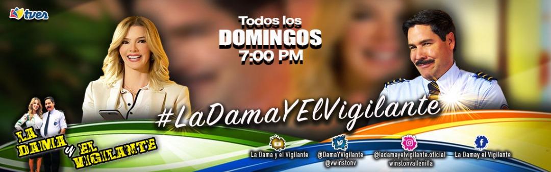 Recuerden que pueden disfrutar de #LaDamaYElVigilante todos los domingos a las 7 de la noche.