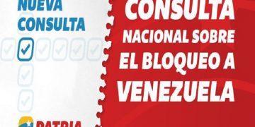 Disponible encuesta sobre Bloqueo Criminal contra Venezuela en la Plataforma Patria