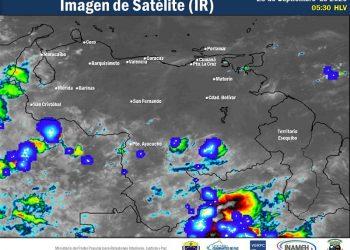 Se esperan precipitaciones vespertinas intensas en gran parte del país