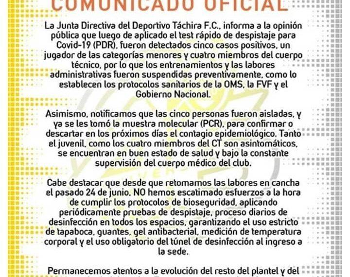 Cortesía de Deportivo Táchira