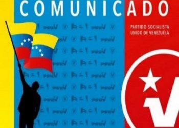 Partido Socialista Unido de Venezuela felicita al pueblo boliviano por victoria democrática