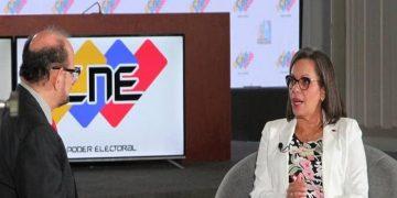 Presidenta del CNE destaca importancia de los medios de comunicación en el desarrollo del proceso electoral