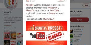 Google vuelve a bloquear la cadena iraní HispanTV
