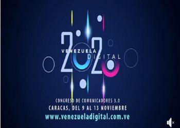 Este lunes inicia el Congreso de Comunicadores Venezuela Digital 2020