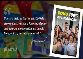 Inicia asignación del Bono 100% Escolaridad del Carnet de la Patria