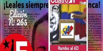 Pueblo venezolano prepara el camino para el 6Dic destaca edición 265 del periódico Cuatro F Web